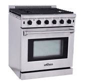 Thor Kitchen Lrg3001u 30 Stainless Steel Gas Range 5 Burner And Oven