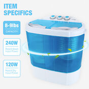 Mini Portable Rv Dorm Compact 8 9lbs Washing Machine Washer Spin Dryer Laundry
