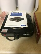 New Aroma Black Portable Travel Electric Single Hot Plate W Temperature Setting
