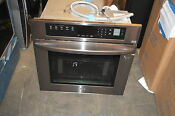 Lg Lws3063bd 30 Black Stainless Single Electric Wall Oven Nob 17162