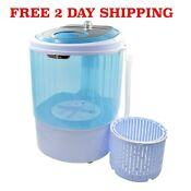 Portable Mini Washing Machine With Spin Basket 5 5lb Washer Spin Dryer Compact