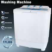17lbs Mini Compact Portable Washing Machine Twin Tub Laundry Washer Spin Dryer