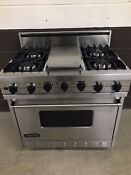 Viking Vdsc3674gss 36 Professional Dual Fuel Range Oven 4 Burners Griddle