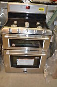 Maytag Mgt8820ds 30 Stainless Freestanding Double Oven Gas Range 14027 T2 Clw
