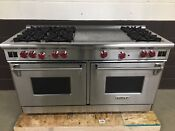Wolf R606f 60 Professional Gas Range Stove 6 Burner French Top Stainless