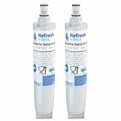 Refresh Replacement Water Filter Fits Whirlpool 4396508 Refrigerators 2 Pack