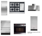 Assorted 6 Unit Package Refrigerator Walloven Rangetop Dishwasher Hood Ice Maker