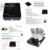 Avalon Bay Induction Cooktop 1800w Portable Cooktop Countertop Burner Ic100b