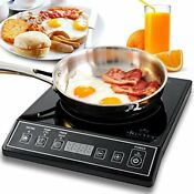 1800w Portable Induction Cooktop Countertop Burner 15 Temperature Timer Kitchen