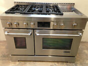 Jenn Air Jgrp548wp 48 Professional Gas Range Stove 6 Burners Griddle