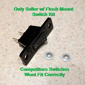 Black Rocker Switch 12001129 Fan Switch Kit For Jenn Air Cooktops