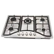 Metawell Stainless Steel 30 5 Burners Built In Cooktops Ng Gas Hob Stoves