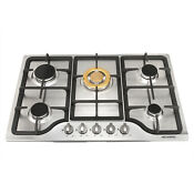 30 Stainless Steel Cooktop 5 Burners Built In Stoves Stable Gold Main Burner