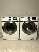Samsung Front Load Washer Wf419aaw Xaa And Electric Dryer Dv419aew Xaa Set