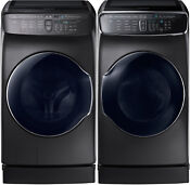 Samsung Black Stainless Flex Washer Gas Dryer Peds Wv60m9900av Dvg60m9900v