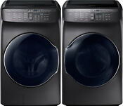 Samsung Black Stainless Flex Washer Electric Dryer Wv55m9600av And Dve55m9600v