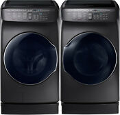 Samsung Black Stainless Flex Washer Electric Dryer Peds Wv55m9600av Dve55m9600v