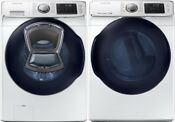 Samsung White Front Load Washer And Electric Dryer Wf45k6500aw And Dv45k6500ew