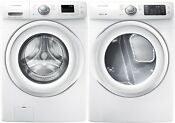 Samsung White Front Load Washer And Electric Dryer Wf42h5000aw And Dv42h5000ew