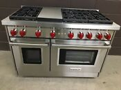 New Wolf Gr486g 48 Professional Gas Range Stove 6 Burners Griddle