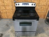 Ge Stainless Front 4 Burner Electric Stove Range Oven Local Pickup Only