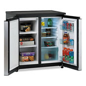 Avanti 5 5 Cf Side By Side Refrigerator Freezer Black Stainless Avarms551ss