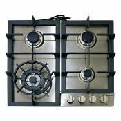 Magic Chef Mcsctg24s 24 Inch Gas Cooktop With 4 Burners Stainless Steel New
