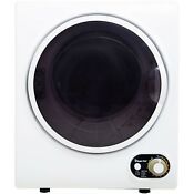 White Mini Electric Dryer Compact 1 5cuft Dry Laundry Clothes Apartment Dorm Rv