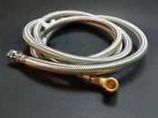 8 Foot Braided Stainless Steel Dishwasher Line With 3 8 Elbow