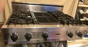 Viking 36 Professional Natural Gas Stainless Cooktop W Center Grill