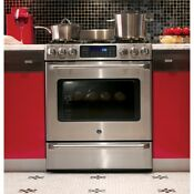 Ge C2s985set Stainless Steel 30 In Dual Fuel Kitchen Ranges
