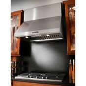 Kitchenaid 36 Stainless Steel Wall Mount Canopy Range Vent Hood Kxw8736yss New