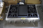 Thermador Pcg364gd 36 Stainless Pro Style Gas Rangetop Nob 30825 Hrt