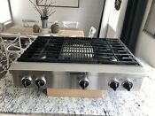 Kitchenaid 36 Professional Stainless Steel Cooktop W 4 Burners And Grill