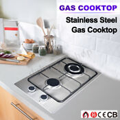 Double 2 Burner Cooktop Range Gas Stove High Efficiency Manual Ignition New