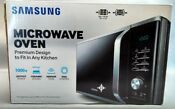 Samsung 1 1 Cubic Ft Countertop Microwave With Ceramic Enamel Interior Silver