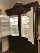 Two 2 Sub Zeros 700tc And 700tr Refrigerator Freezer Custom Cabinet
