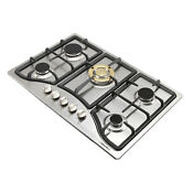 30in Stainless Steel 5 Burners Cooktops Built In Ng Lpg Gas Hob Cooker Usa
