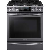 Samsung Black Stainless Steel 30 Gas Slide In Range Convection Nx58k9500wg