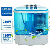 21lbs Mini Semi Automatic Washing Machine Portable Twin Tub Washer Spinner Dryer