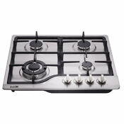 Delikit A 24 4 Burners Gas Cooktop Gas Hob Ng Lpg Dual Fuel Sealed S S Panels