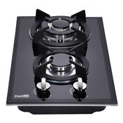 Delikit B 12 2 Burners Gas Cooktop Gas Hob Ng Lpg Dual Fuel Sealed Glass Panel