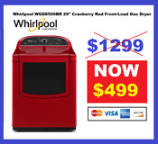 Whirlpool Wgd8500br 29 Cranberry Red Front Load Gas Dryer Nib 21750 Hrt