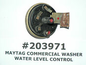 Maytag Oem Commercial Washer Water Level Control 203971 2 03971 Free Shipping