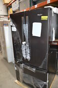 Whirlpool Wrf535swhv 36 Black Stainless French Door Refrigerator Nob 23943