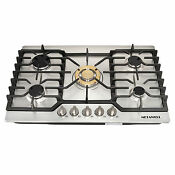 30 Stainless Steel Built In 5burner Kitchen Gas Cooktop Lpg Ng Gas Hob Cooker