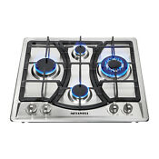 23 Steel Built In 4 Burners Kitchen Gas Cooktop Stove Ng Lpg Gas Hob Cooker