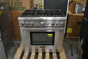 Thermador Prg366gh 36 Stainless Pro Style Gas Range Nob 42036 Hrt