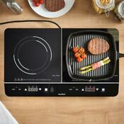 New Portable 2800w Electric Digital Twin Induction Hob Double Hot Plate Ceramic