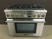 Thermador Prg366jg 36 Gas Pro Grand Range 6 Burners Stainless